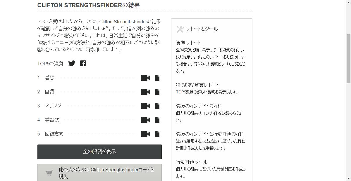【サイトの情報チェック!】ストレングス・ファインダーのツールを活用しよう☆