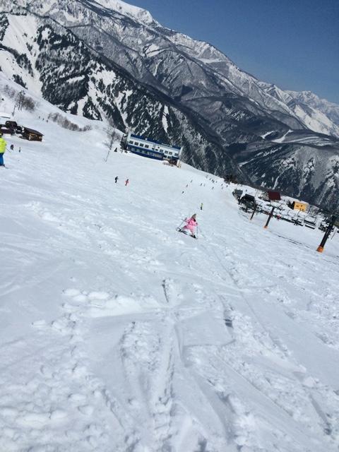 【白馬の春も早かった…!汗だく。】定宿で春スキー☆